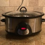 side view of a sliver slow cooker