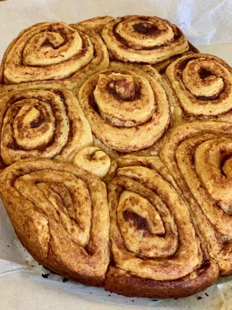 Cinnamon roll pull apart fully cooked