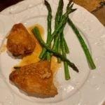 Honey mustard chicken and asparagus