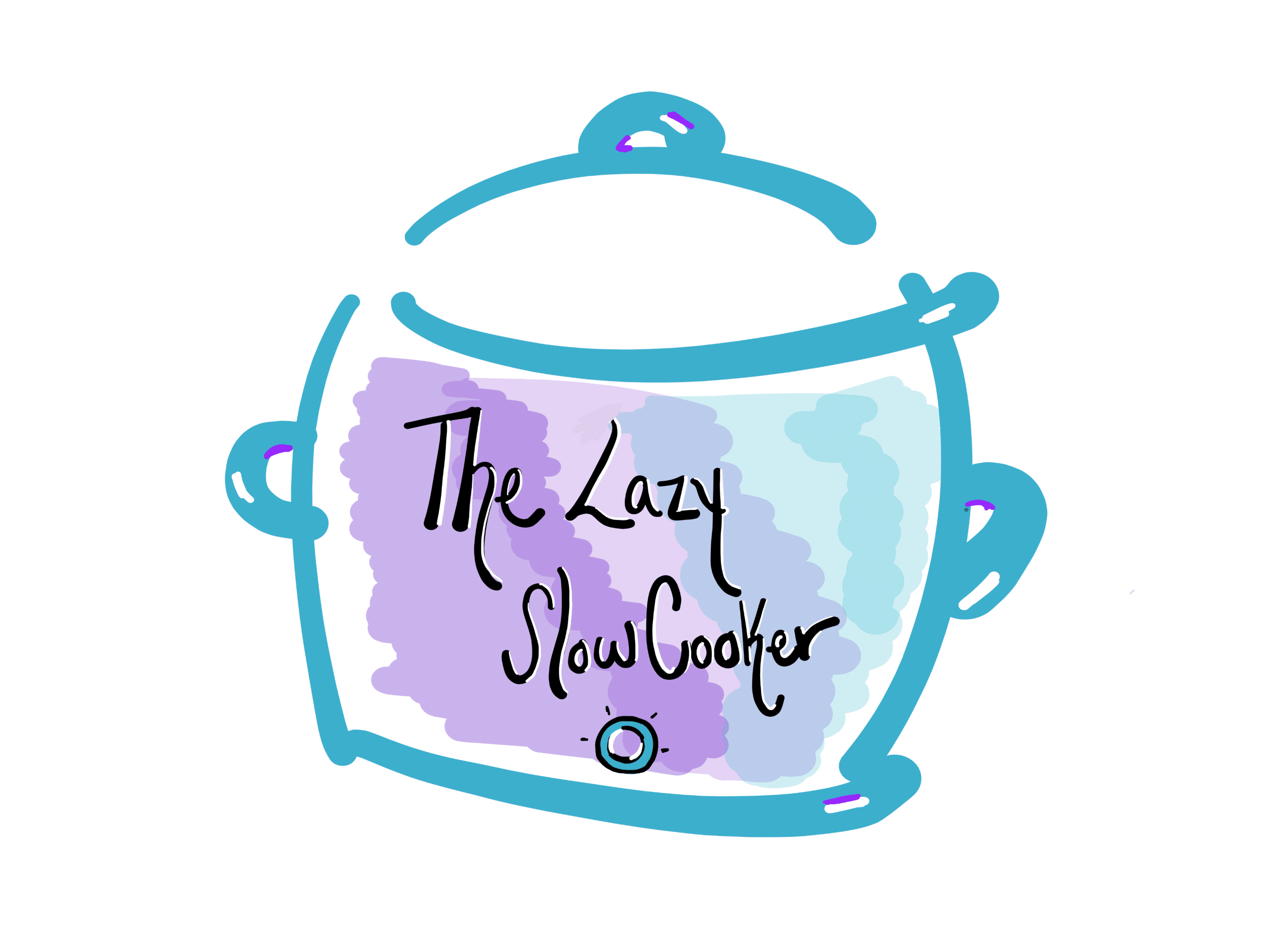 Lazy slow cooker logo with no background
