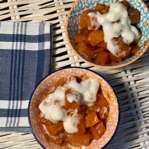 Lazy Slow Cooker Candied Sweet Potato Casserole
