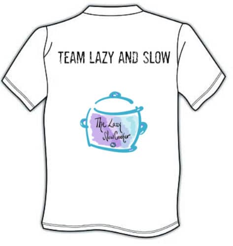 lazy slow cooker collard short sleeve shirt with logo on back