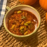 Lazy Slow Cooker Turkey Edamame Chili