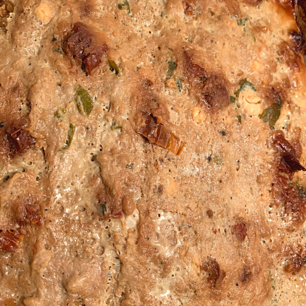 Close up of cooked meatloaf in corckpot