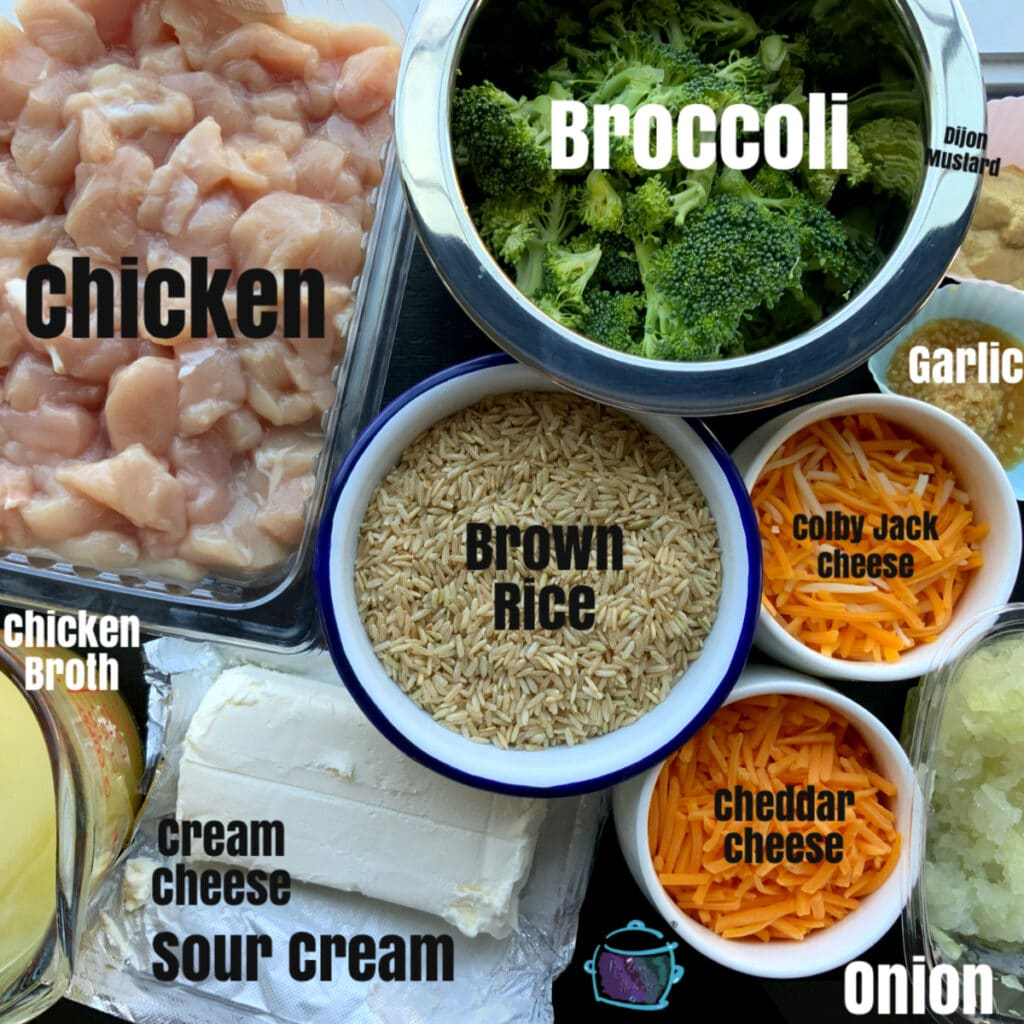 All ingredients prior to cooking with lables