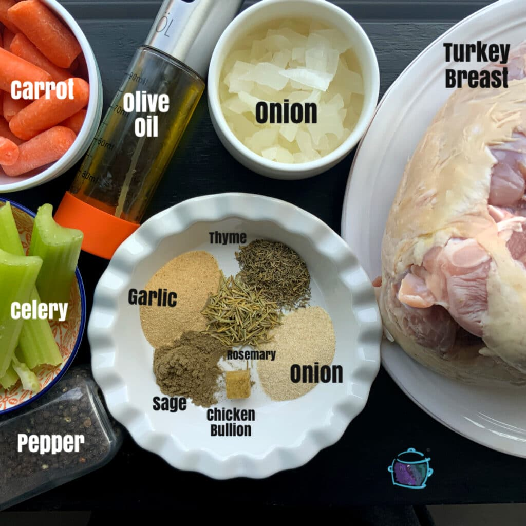 turkey breast ingredients with lables
